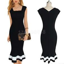 Elegant Vintage Women's Office Wear To Work Party Bodycon Pencil Career Dresses