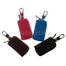 Woven Pattern Car Leather Remote Key Cover Bag Case Protector Holder for Car