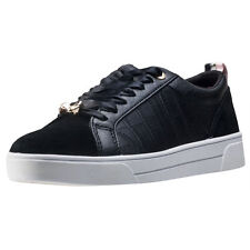 Ted Baker Kulei Womens Black Leather Casual Trainers Lace-up Genuine Shoes