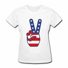 USA Flag Peace Sign July 4th Women's T-Shirt by Spreadshirt™