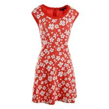 NWT JUICY COUTURE Black Label A-Line Plumeria Punch Orange Red Casual Dress $218