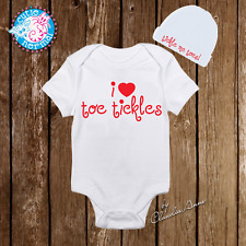 Unisex I Love Toe Tickles Funny Baby Onesies Hat Beanie Baby Shower Gifts Infant