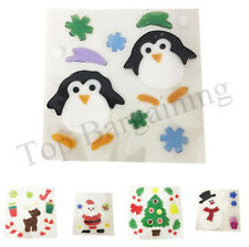 Christmas Stickers Decoration Xmas Gel Window Stickers Clings Cling Fun Bright