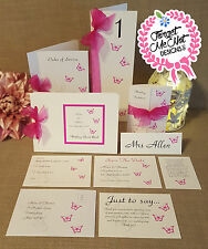 Handmade personalised Wedding Stationery (Invitations, RSVP, Postcards)