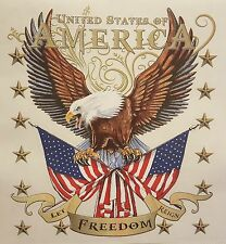 ALL AMERICAN OUTFITTERS UNITED STATES OF AMERICA EAGLE & FLAGS  SHIRT