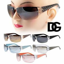 New DG Fashion Designer Eyewear Womens Half Frame Mirrored Lens Retro Sunglasses