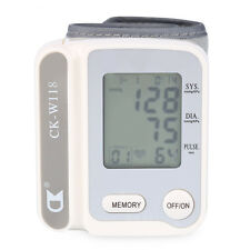 Wrist Blood Pressure Pulse Monitor Digital Upper Sphygmomanometer LCD Display