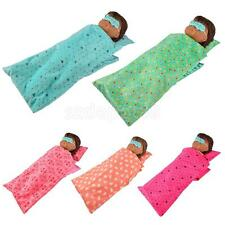 Fashion Party Sleeping Bag Pillow Eye Patches for 18'' American Girl Dolls ACCS
