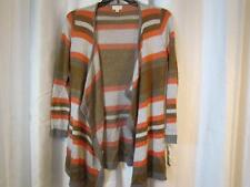 NWT Maison Jules Long Open Cardigan Sweater Striped Sz Med and Large Org $89.50