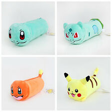 Pokemon Pencil Bags Makeup Cosmetic Brush Pouch Pen Pencil Case Plush Bag Cute