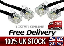 RJ11 Male to Male ADSL BT Broadband Modem Internet Router Fax Telephone Cable UK
