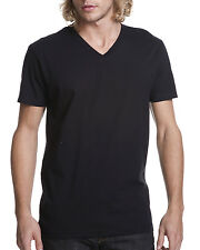 12 PACK ~ Fruit of the Loom Mens Black Tag Free 100% Cotton V-Neck T-Shirts