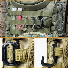 4 x Tactical Grimloc Safe Buckle MOLLE Locking Snap D-ring EDC Carabiner Webbing