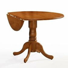 """International Concepts 42"""" Solid Wood Dual Drop Leaf Round Pedestal Table with 9"""