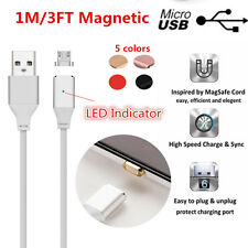 1M/3FT Over 2.4A Micro USB Magnetic Adapter Rapid Charging Data Sync Cable Cord