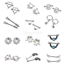 316L Steel Septum Clicker Nipple Hoop Captive Rings Unique Design Piercing 14G