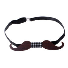Fashion Men's Wooden Moustache Shape Bowtie Men Party Accessories Gifts
