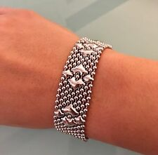Silver Mesh Bracelet B3 SG Liquid Metal by Sergio Gutierrez sizes: 7, 7.5, 8