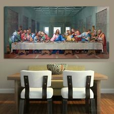 NoFramed Last Supper Religious Jesus Canvas Picture Paint Wall Art Home Decor