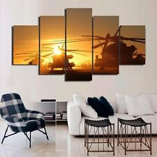 Black Hawk Sunset Canvas Picture Painting Abstract Modern Wall Art HD Home Decor