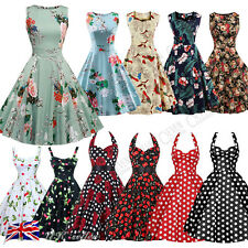 Women's Vintage Rockabilly Retro Pinup Swing Ball Evening Party Dress 50/60s