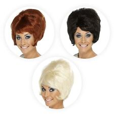 Ladies 60s Beehive Style Wig Hairstyle Swinging Sixties Fancy Dress Accessory
