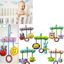 Baby Infant Plush Animal Rattles Stroller Music Hanging Bell Toys Soft Doll Bed