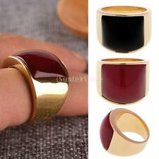 Gold Plated Black Red Cat's Eye Steel Rings Men Gothic Jewelry Ring Size 8 10