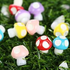 Lovely Miniature Garden Decor DIY Ornament Fairy Dollhouse Mushrooms 10/50pcs
