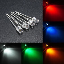 10pcs 3mm 5 Color Water Clear LED Flat Diodes Assortment Lamp DIY