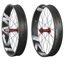 ICAN Carbon Fatbike Wheelset Clincher Tubeless Ready 26er 32/32H 150/197mm