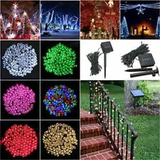 100 LED Solar Powered Fairy String Light Garden Party Decor XMAS