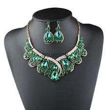 Exquisite Little Lots Rhinestore lots Embed Glass Necklace Set Accessories