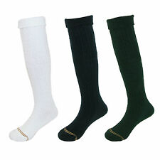 New Gold Toe Girl's Cable Knit Knee High Uniform Socks (Pack of 6)