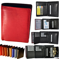 Wallet with 19 Compartments in fine Cattle leather Vertical format Wallet Purse
