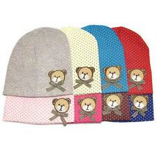 Fashion Newborn Infant Baby Cap Adorable Bear Dot Beanie Warm Hat Cozy Chic