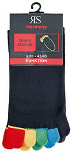 Toe socks,toe socks,black with colorful Toes,2 he Pack