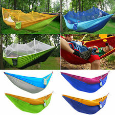 Outdoor Park Hammock Swing Bed Portable Parachute Nylon Fabric Traveling Camping