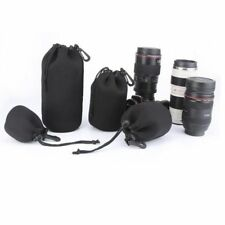 1~4pcs x Camera Neoprene DSLR Lens Soft Pouch Protector Case Bag Cover For Canon