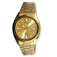 Seiko Gold Face 5 Automatic Mens Analog Casual Gold Watch SNKH32J1