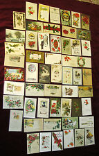 Lot of 50+ Christmas Postcards ca. 1900-1930 Standard Size Many Postally Used  G