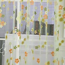 Floral Voile Tulle Window Door Scarf Sheer Curtain Drape Panel Valances Room New