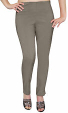 Ladies Pull On Straight Smooth Super Stretch Elasticated Trousers Womens Pants