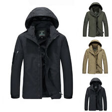 Mens Military Winter Warm Fleece Tactical Jacket Outerwear Hoodie Coats Jackets
