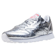 Reebok Classic Leather Hd Womens Trainers Silver New Shoes