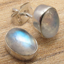 Genuine Gemstone Choices LIGHTWEIGHT Stud Earrings, 925 Sterling Silver Plated