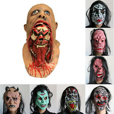 Halloween Latex Mask Zombie Face Costume Party Prop Adult Dead Scary Masquerade