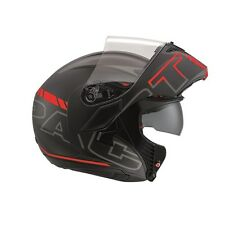 AGV COMPACT ST SEATTLE Black/Silver/Red Flip Up Front Modular Motorbike Helmet