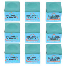9 Pieces Billiard Chalks Snooker Pool Cue Chalk Durable