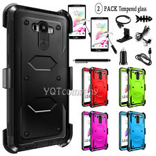 Rugged Shockproof Hybrid Stand Hard Protective Case Cover For LG G Stylo LS770